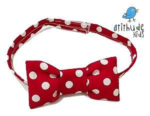 Gravata Borboleta - Poá Vermelha | Mickey