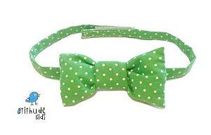 Gravata Borboleta - Poá Verde Claro