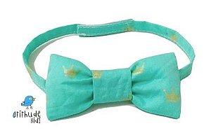 Gravata Borboleta - Verde Estampada