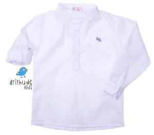 Camisa Sean - Branca  (Gola Padre)