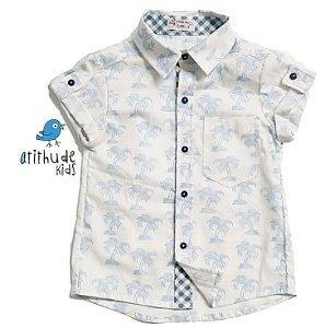 Camisa Matheus - Estampada Palmeira | Manga curta