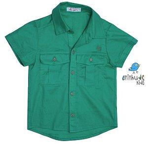 Camisa Marco - Verde (com dois bolsos)