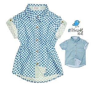 Kit camisa Oliver - Tal mãe, tal filho (chamise e camisa)