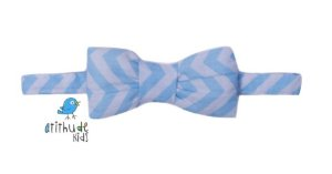 Gravata Borboleta - Listrada Azul Claro