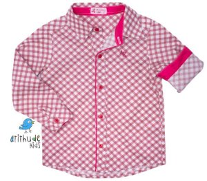 Camisa Lelo - Xadrez vermelha clara| Fazendinha