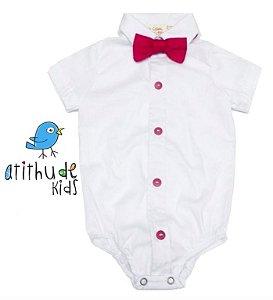 Camisa Vicenzo - Branca (escolha a cor dos botões) | Vem com gravata