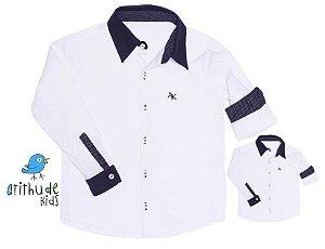 Kit camisa Benjamin  - Tal pai, tal filho (duas peças)
