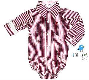 Camisa Ian - Listrada Vermelha
