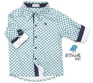 Camisa Luigi - Xadrez azul claro| Fazendinha