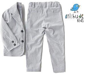 Conjunto Vitor  - Cinza Risca de Giz (blazer e calça)