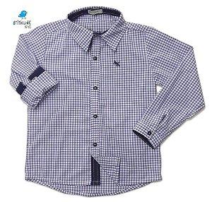 Camisa Antônio - Xadrez Azul Claro| Fazendinha