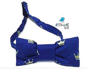 Gravata Borboleta - Azul Marinho Coroa