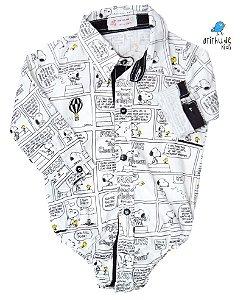 Camisa Snoopy - Estampa Quadrinhos