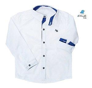 Camisa Alcides - Branca com Azul