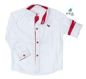 Camisa Alcides - Branca com Vermelho | Mickey