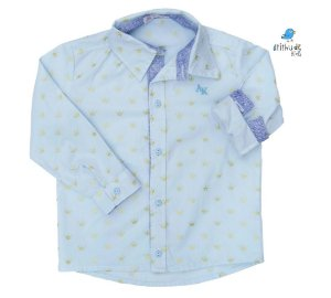 Camisa Evair - Azul Bebê Coroa (Pequeno Príncipe)