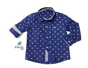 Camisa Evair - Azul Marinho Coroa (Pequeno Príncipe)