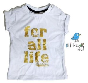 Camiseta For all life - Branca