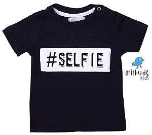Camiseta Selfie - Preta