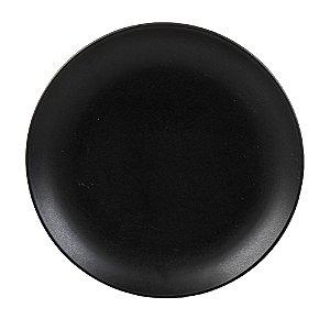 Prato de Cerâmica Preto Matt - Bon Gourmet