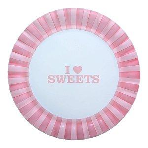 Prato Para Bolo Sweet Com Pé 35 cm