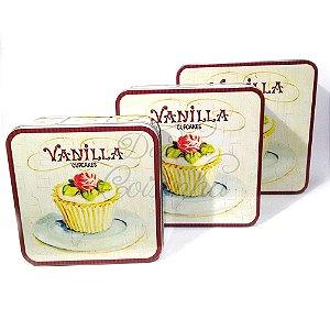 Latas Quadradas - Vanilla