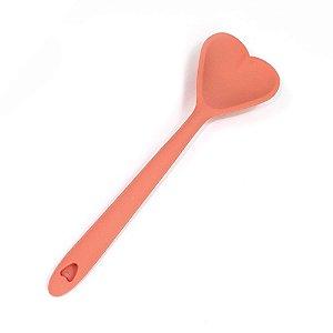 Colher de Silicone de Coração 30 cm - Goiaba