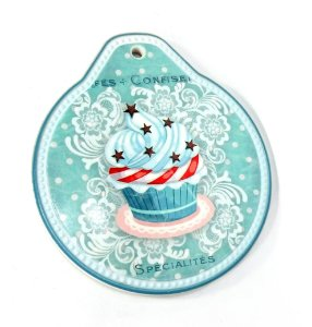 Descanso Panela Cupcake Estrelinha