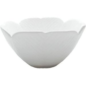 Bowl Folha Decorativa Leaf  Branca 16 cm