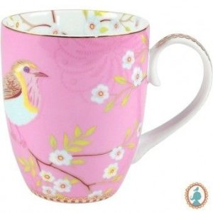Caneca Grande Early Bird Rosa Floral PiP Studio
