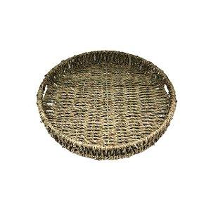 Bandeja com Alça Redonda Natural 30 cm