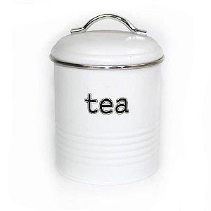 Lata de Chá Vintage Branca