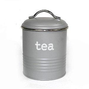 Lata de Chá Vintage Cinza