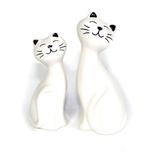Enfeite Gatinhos Branco