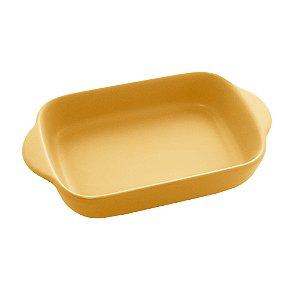 Travessa de Porcelana Nórdica Amarela Matt 23 cm - Bon Gourmet