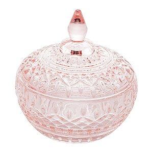 Potiche Decorativo Cristal de Chumbo Lys Rosa 12 cm