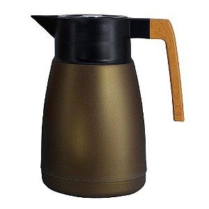 Garrafa Térmica Coffeeshop Marrom Metalico