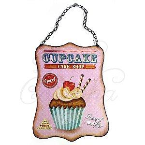 Quadrinho Decorativo CupCake Sweet