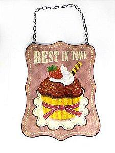 Quadrinho Decorativo Cupcake - Best in Town