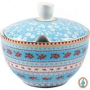 Açucareiro Ribbon Azul Floral - Pip Studio