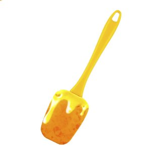 Espátula de Silicone Calda Amarela 24 cm