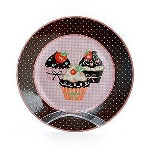 Prato de Sobremesa - Red Cupcakes