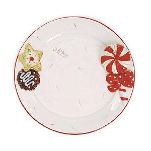 Prato Cerâmica Candy Natal