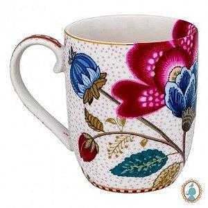 Caneca Pequena Fantasy Branco - Floral Fantasy - Pip Studio