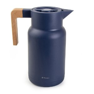 Garrafa Térmica Wood Azul  - TermoPro Glass