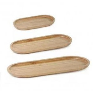 Conjunto de Bandejas de Bambu Oval Ecokitchen  - Mimo Style