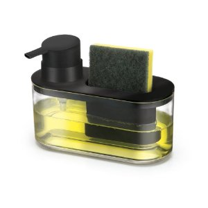Dispenser Para Detergente E Bucha Preto