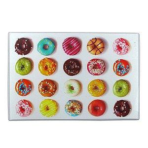 Tábua em Vidro Retangular - Donuts