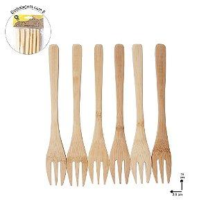 Garfo de Bambu com 6 Peças