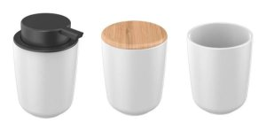 Kit com 3 peças para Banheiro Osaka Branco - Yoi